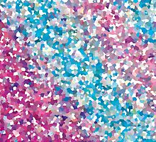 Blue and Purple Sparkly Winter Snow Abstract Art by Christina Katson