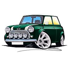 Rover Mini Cooper Sport BRG Photographic Print
