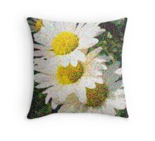 Impressionist Daisy Throw Pillow