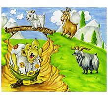 Three Billy Goats Gruff Photographic Print