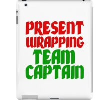 PRESENT WRAPPING TEAM CAPTAIN iPad Case/Skin