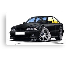 BMW M5 (E39) Black Canvas Print