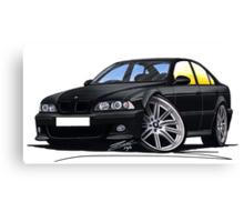 BMW M5 (E39) Black Canvas Print