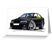 BMW M5 (E39) Black Greeting Card