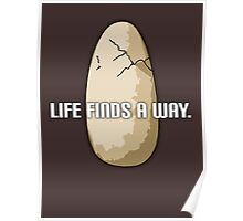 Life Finds A Way (Egg) - Jurassic Park Poster
