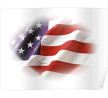 Stars & Stripes Patriotic American Flag  Poster