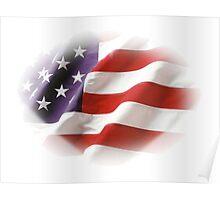 Stars & Stripes Patriotic American Flag  Poster