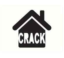 CRACK HOUSE Art Print