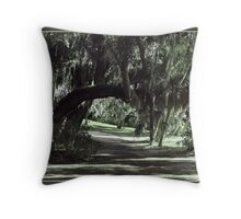 Shady Arched Walk Throw Pillow