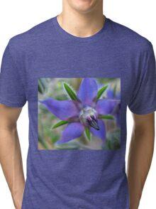 Beautiful blue flower Tri-blend T-Shirt