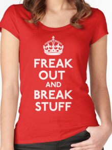 Freak Out And Break Stuff Women's Fitted Scoop T-Shirt
