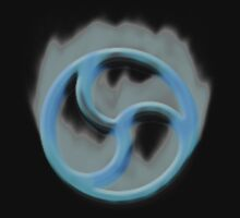 Fire Triskelion Blue by kinkykitee
