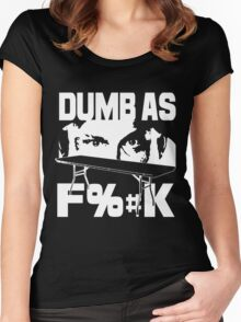 dumb Women's Fitted Scoop T-Shirt