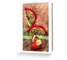 Fan Dance Greeting Card