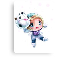 Chibi Winter Wonder Orianna Canvas Print