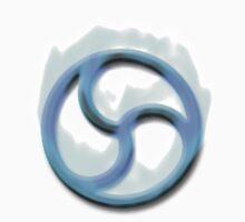 Fire Triskelion Blue on white by kinkykitee