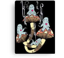 Four Little Monsters Canvas Print