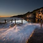 Dawn Light Hitting Coogee Ladies Pool by Brent Pearson