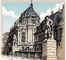 Vintage Hand Drawn View of Versailles Chapel Photographic Print