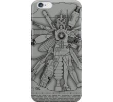 Vitruvian Machine (White) iPhone Case/Skin