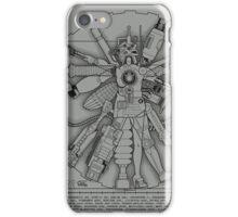 Vitruvian Machine (Black) iPhone Case/Skin