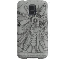 Vitruvian Machine (Black) Samsung Galaxy Case/Skin