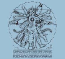 Vitruvian Machine (Black) T-Shirt