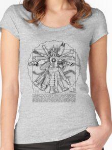 Vitruvian Machine (Black) Women's Fitted Scoop T-Shirt