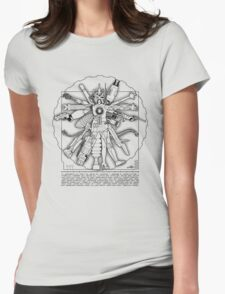 Vitruvian Machine (Black) Womens Fitted T-Shirt