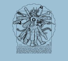 Vitruvian Machine (Black) Unisex T-Shirt