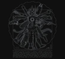 Vitruvian Machine (Gray) Kids Clothes