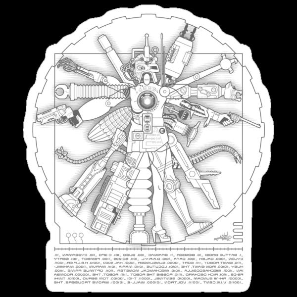 Vitruvian Machine (Gray) by Captain RibMan