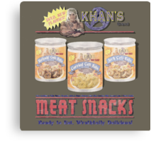 Khan's Brand Meat Snacks Canvas Print