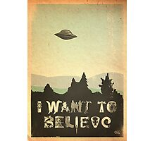 X-Phile: I WANT TO BELIEVE Photographic Print
