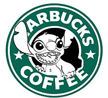No more coffee for you - Stitch Starbucks logo by RandomCitizen