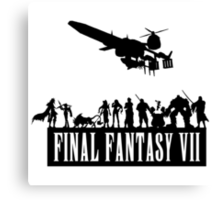 Final Fantasy VII - The Party Canvas Print