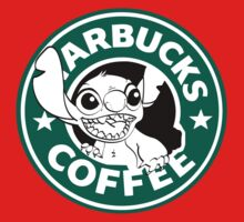 No more coffee for you - Stitch Starbucks logo Kids Tee