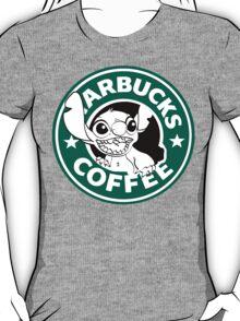 No more coffee for you - Stitch Starbucks logo T-Shirt