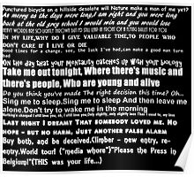 The Smiths Lyrics Poster