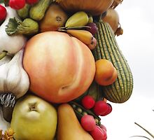God of Harvest, Fruit and Vegetable Face by Kat Smith