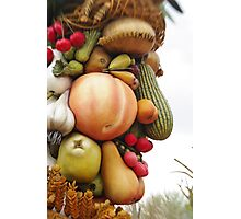 God of Harvest, Fruit and Vegetable Face Photographic Print