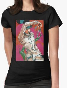 rohan at the louvre Womens Fitted T-Shirt