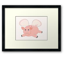 GLASSWINGED PIG Framed Print