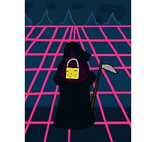 Litteral-formers Grim reaper Pad lock Photographic Print