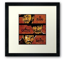 The Good, the Bad, and the Ugly Framed Print