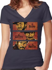 The Good, the Bad, and the Ugly Women's Fitted V-Neck T-Shirt