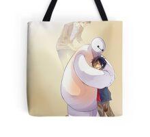 Big Hero 6 Baymax Hugging Hiro With Tadashi Tote Bag