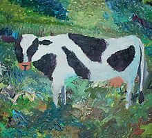 cow replica of van gogh by terry  hoey