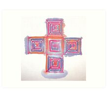 Silk blocks Art Print
