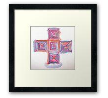 Silk blocks Framed Print